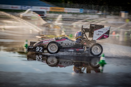 Will squeezes in a last Skidpad run! © Formula Student Germany