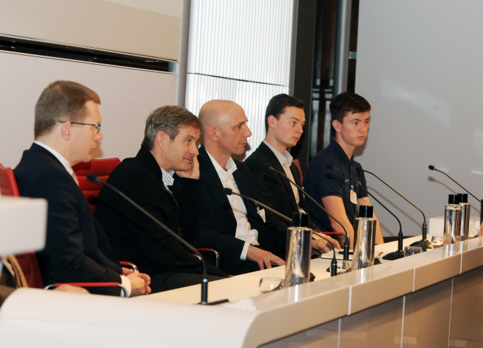 Students  take part in the panel with VIPS.JPG